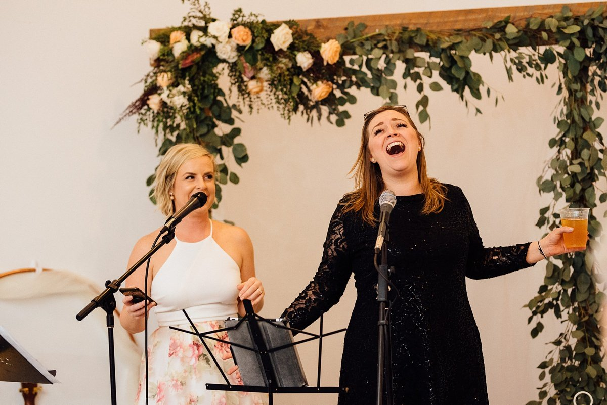 singing-at-wedding White Avenue Studio Wedding | Katie + Ken