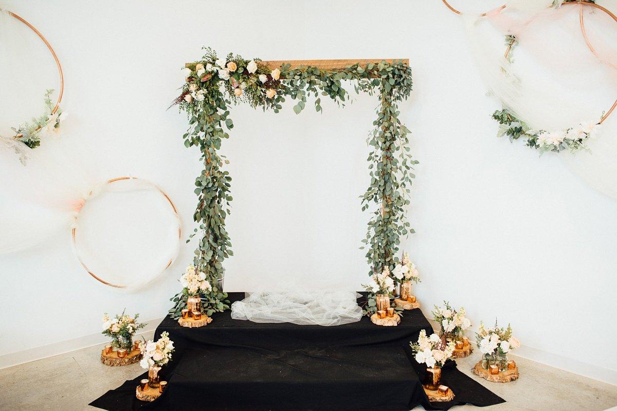 wedding-backdrop White Avenue Studio Wedding   Katie + Ken