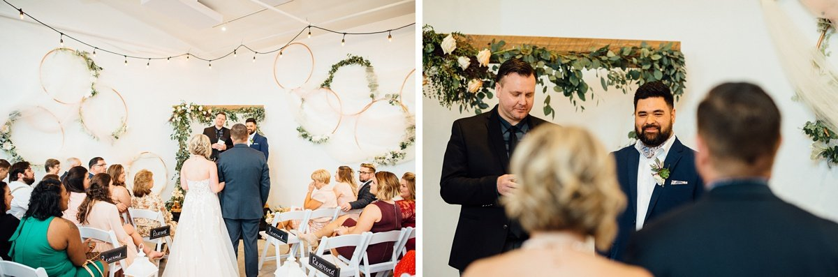 wedding-ceremony White Avenue Studio Wedding | Katie + Ken