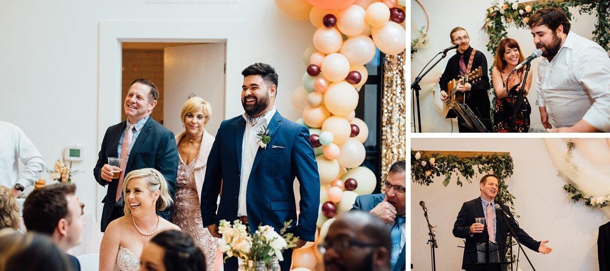 wedding-fun White Avenue Studio Wedding   Katie + Ken