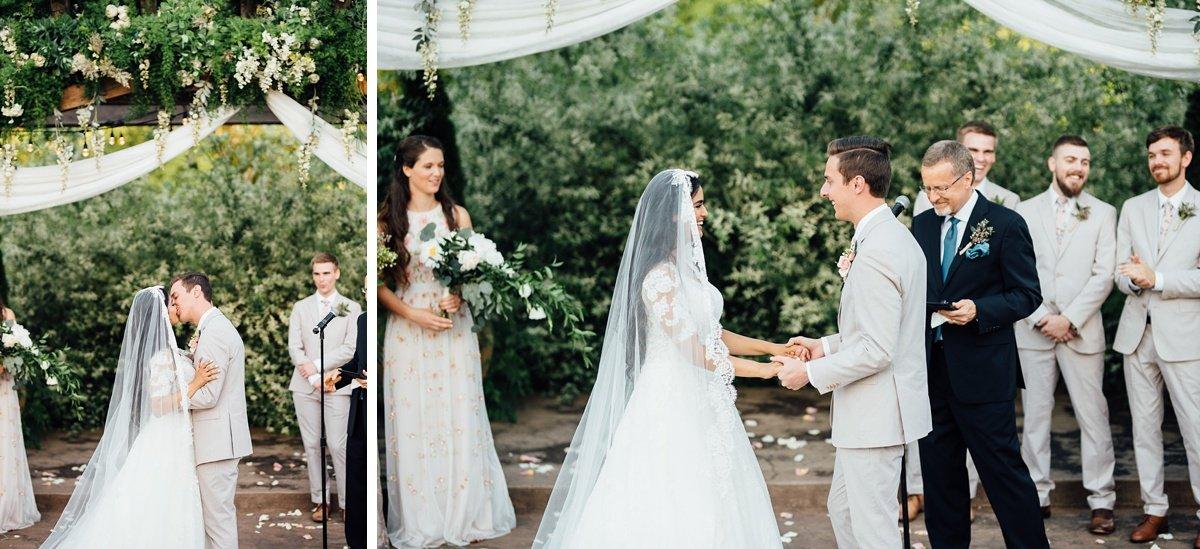 wedding-kiss-1 Cason's Cove Alvaton, KY | Nicole + Austin
