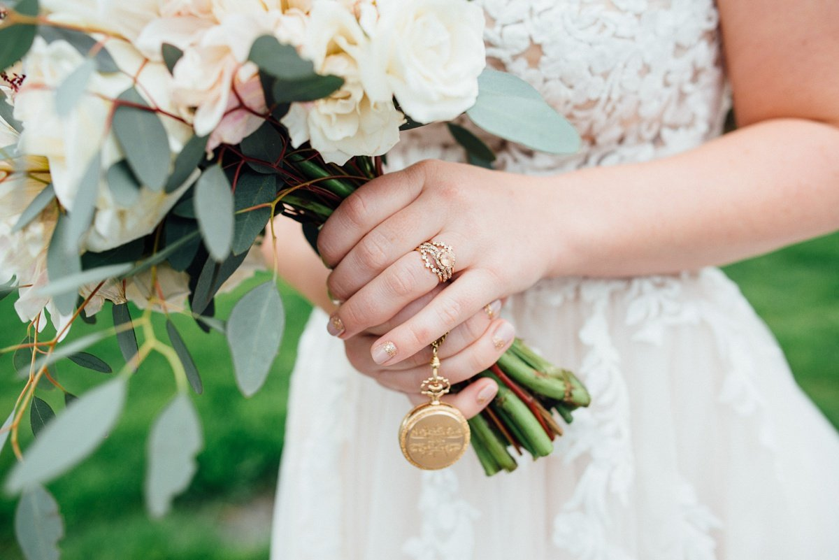 wedding-locket White Avenue Studio Wedding | Katie + Ken