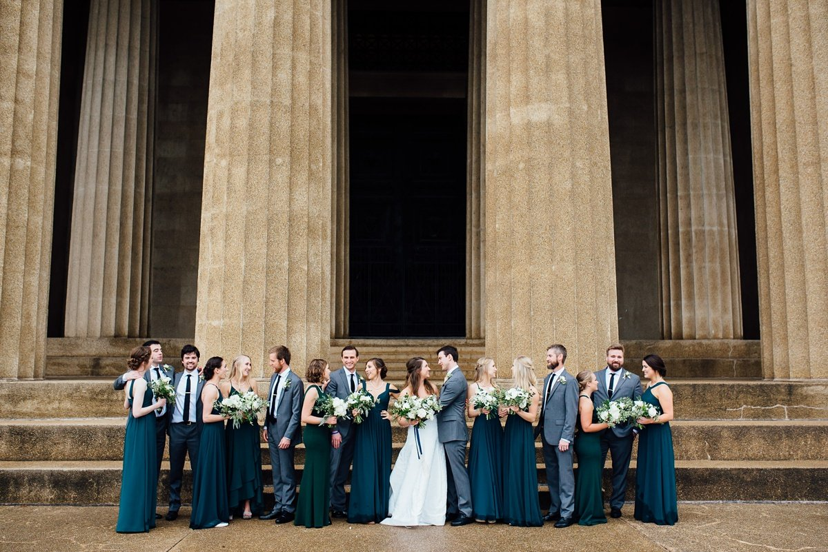 wedding-party-inspiration Christ The King Wedding | Loveless Barn | Nina + Evan