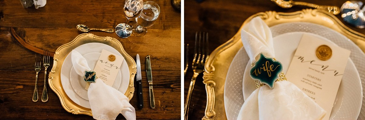 wedding-plates Christ The King Wedding | Loveless Barn | Nina + Evan