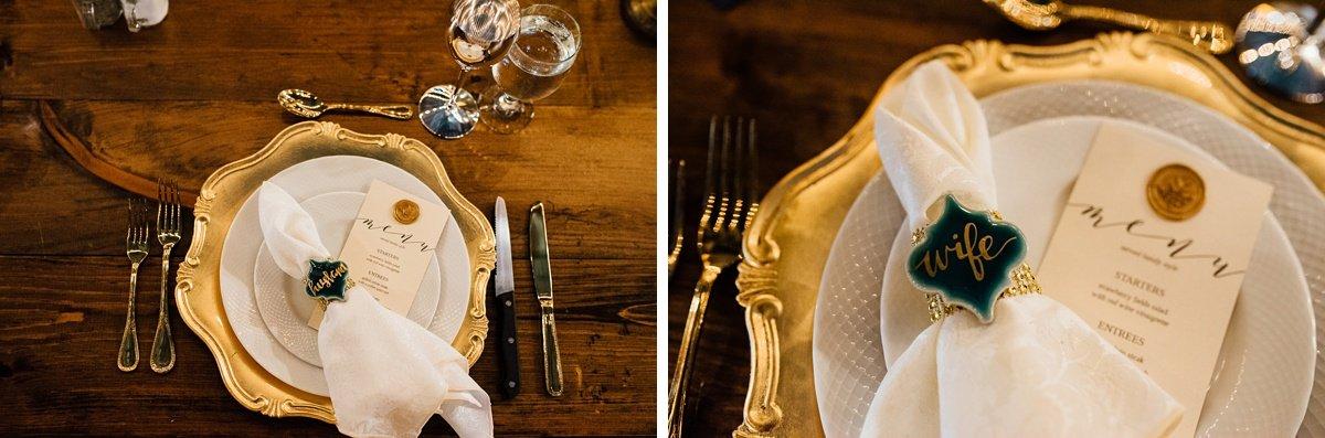 wedding-plates Christ The King Wedding | Loveless Barn | Nina + Evan