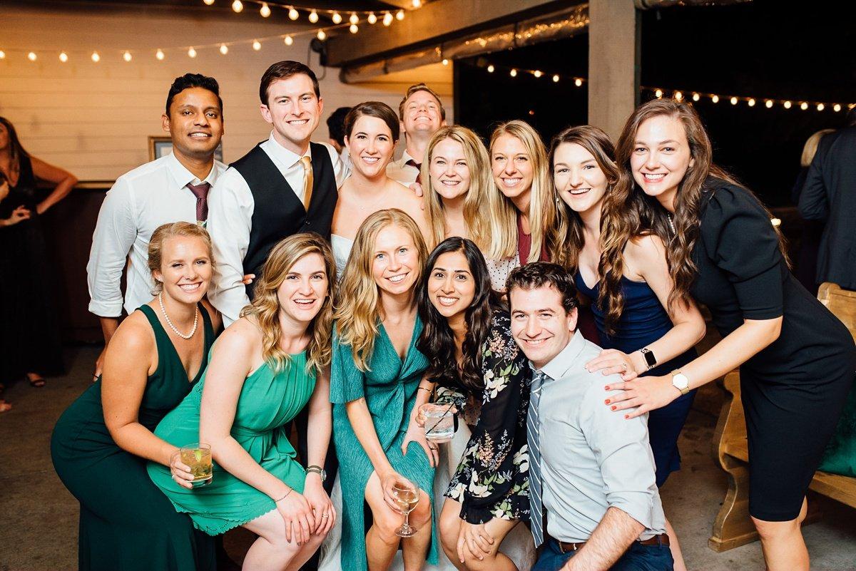 wedding-reception-group Christ The King Wedding | Loveless Barn | Nina + Evan
