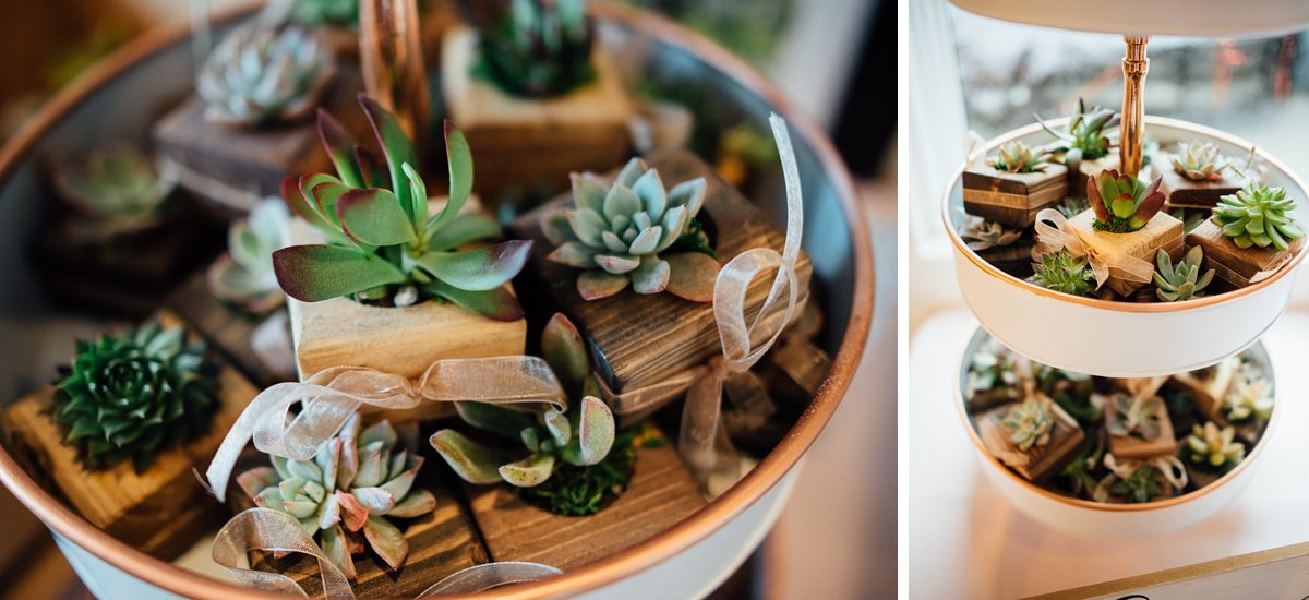 wedding-succulents White Avenue Studio Wedding | Katie + Ken