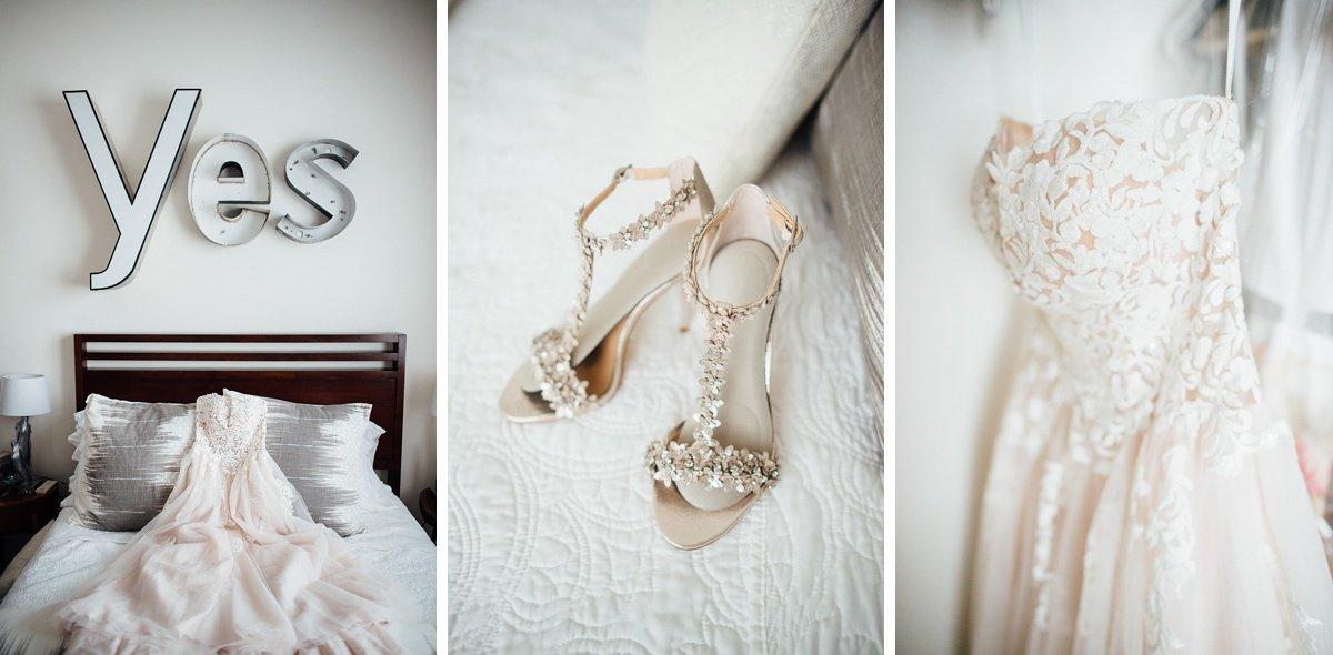 yes-sign-dress White Avenue Studio Wedding   Katie + Ken