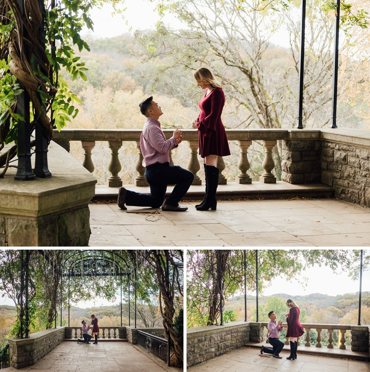cheekwood-wisteria-arbor-proposal-photographer Nashville Proposal Photographer