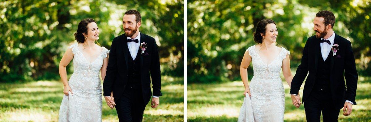 bride-groom-walking Old Glory Distilling Co Wedding   Clarksville, TN   Matt + Shannon