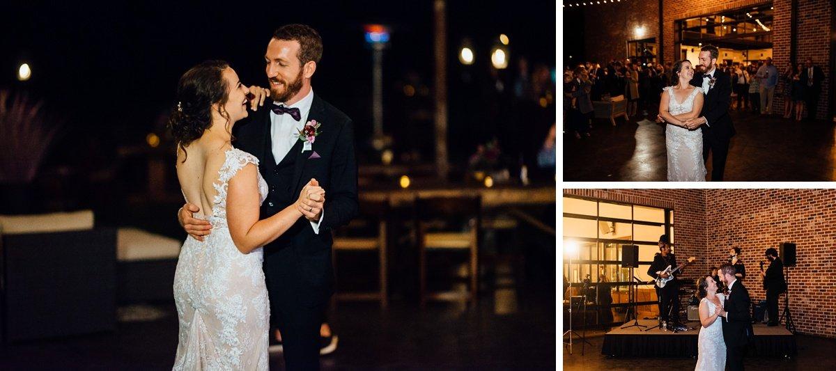 couple-first-dance Old Glory Distilling Co Wedding   Clarksville, TN   Matt + Shannon