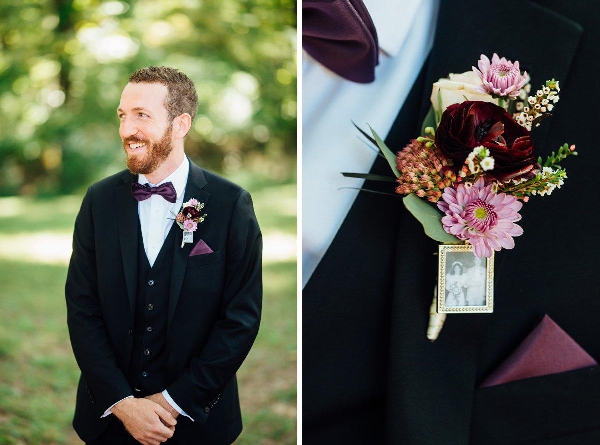 groom-details-photo-lapel Old Glory Distilling Co Wedding   Clarksville, TN   Matt + Shannon