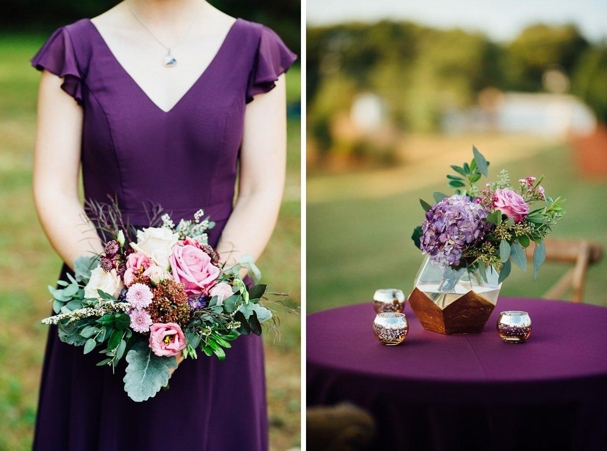 purple-wedding-details Old Glory Distilling Co Wedding   Clarksville, TN   Matt + Shannon