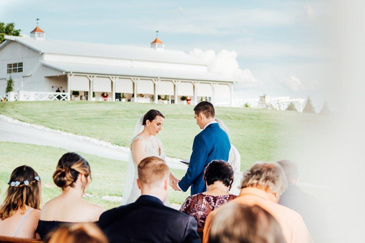 beautiful-ceremony Laura + Robert | White Dove Barn Wedding