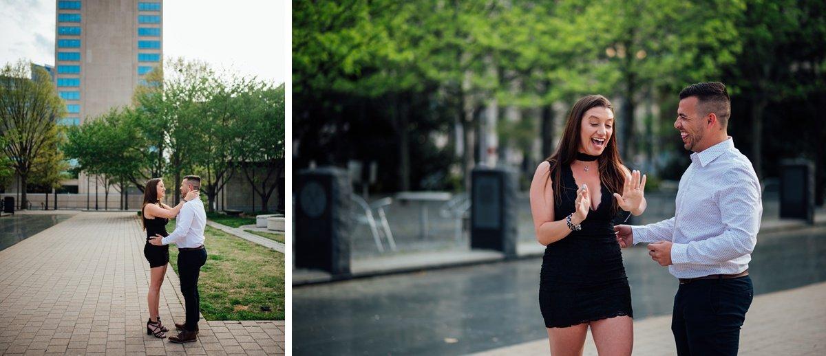 best-reaction-proposal Jason and Alyssa Proposal | Downtown Nashville