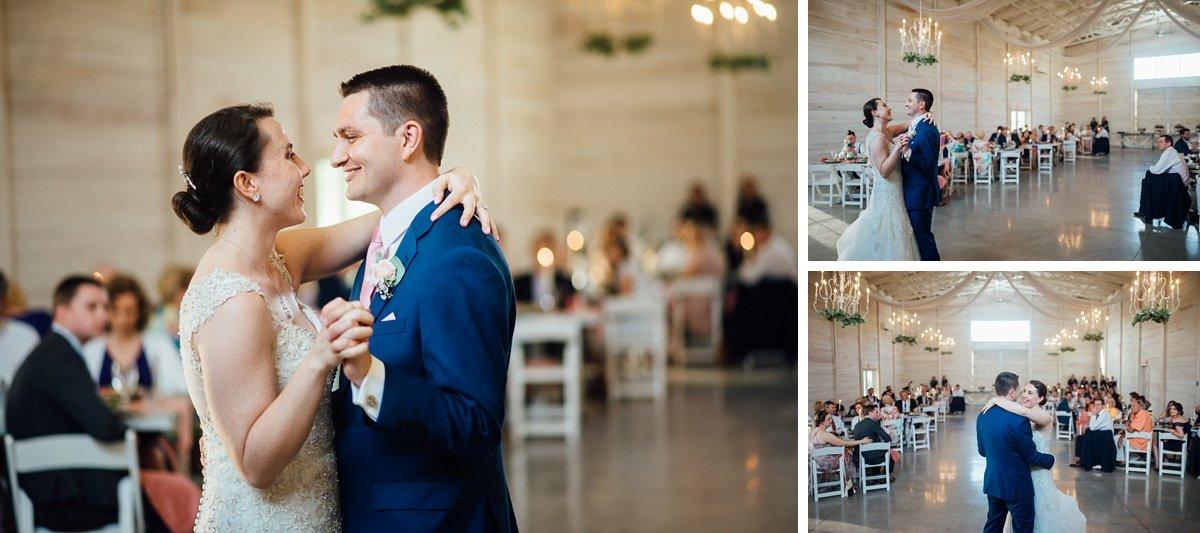 bride-first-dance Laura + Robert | White Dove Barn Wedding