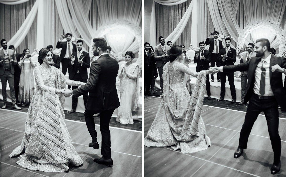 bride-groom-dancing-indian-wedding Osama + Sanah | Centennial Park and JW Marriott Wedding