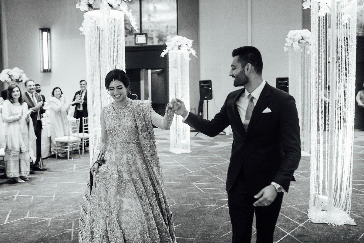 bride-groom-entrance Osama + Sanah | Centennial Park and JW Marriott Wedding