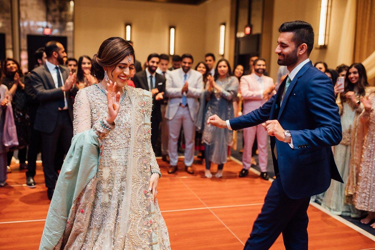 bride-groom-having-fun Osama + Sanah | Centennial Park and JW Marriott Wedding