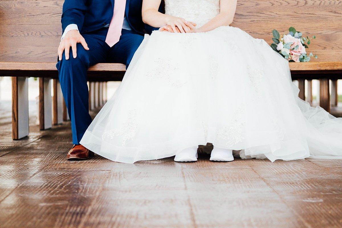bride-groom-shoes Laura + Robert | White Dove Barn Wedding