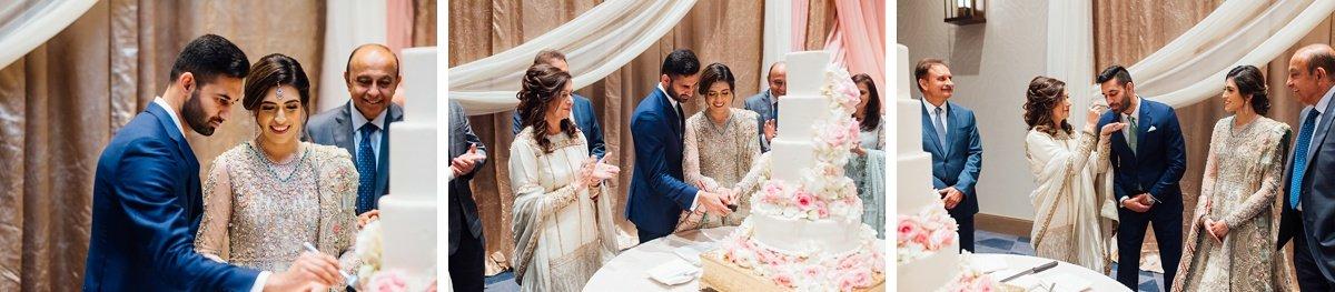 cake-cutting Osama + Sanah | Centennial Park and JW Marriott Wedding