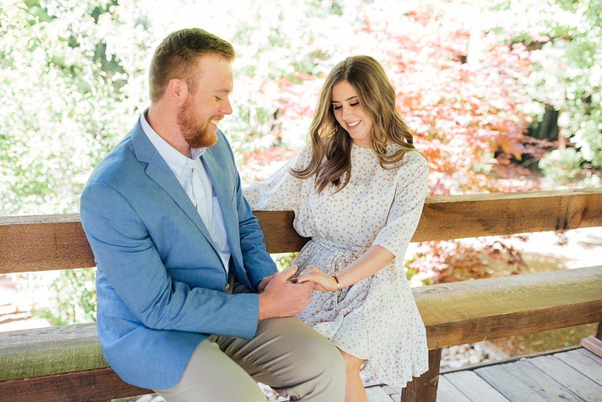 couple-engaged Cheekwood Proposal - Truman + Alivia