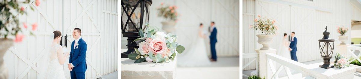 couple-private-vows Laura + Robert | White Dove Barn Wedding