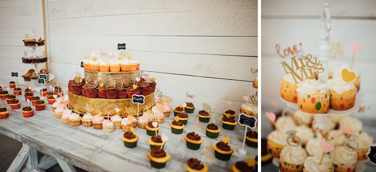cupcake-table-wedding Laura + Robert | White Dove Barn Wedding