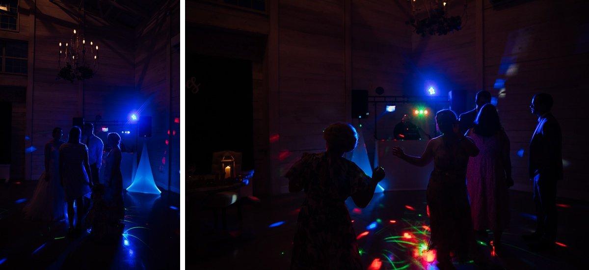 dance-floor Laura + Robert | White Dove Barn Wedding