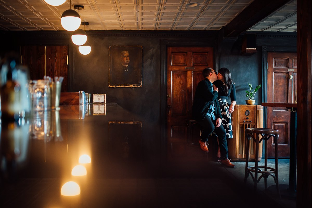 empty-bar-engagement-photo East Nashville Bar Engagement Session | Fox Nashville
