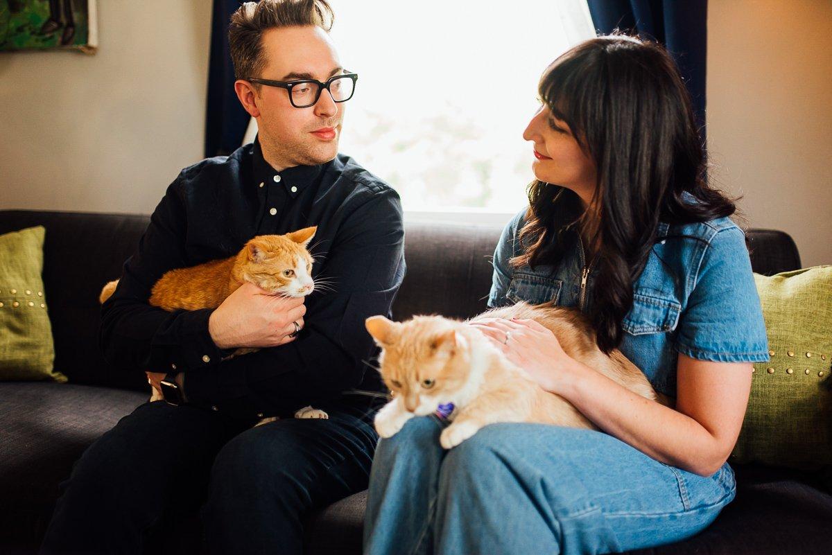 engagement-photographer-cats East Nashville Bar Engagement Session | Fox Nashville