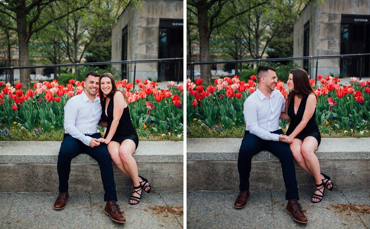engagement-photos-tulips Jason and Alyssa Proposal | Downtown Nashville