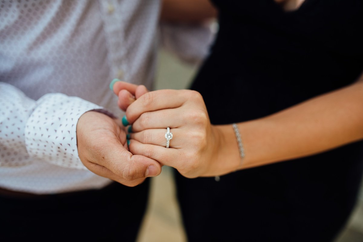 engagement-ring-hands Jason and Alyssa Proposal   Downtown Nashville