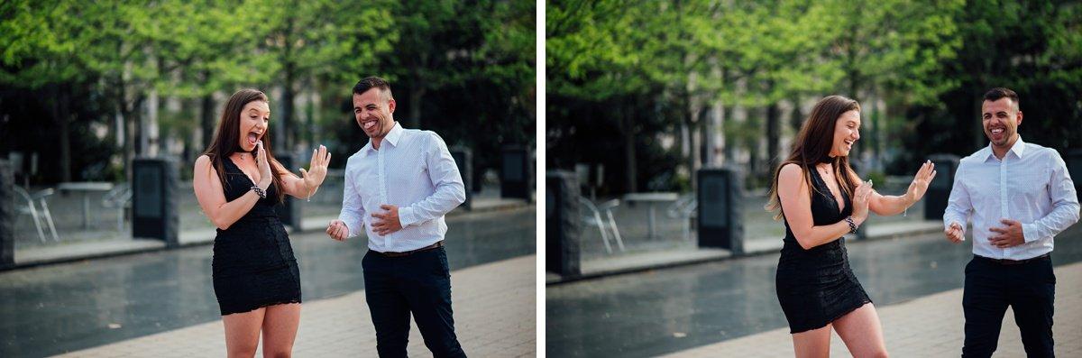 engagement-surprise Jason and Alyssa Proposal | Downtown Nashville