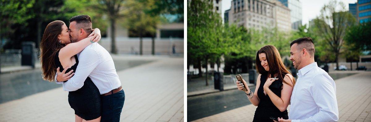 facetime-after-engagement Jason and Alyssa Proposal | Downtown Nashville