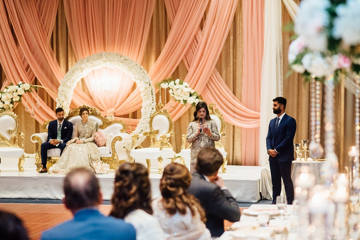 family-toasts Osama + Sanah   Centennial Park and JW Marriott Wedding