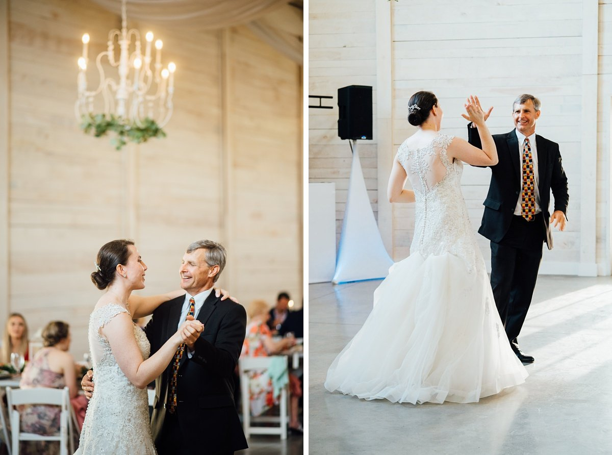 father-daughter-dance-high-five Laura + Robert | White Dove Barn Wedding
