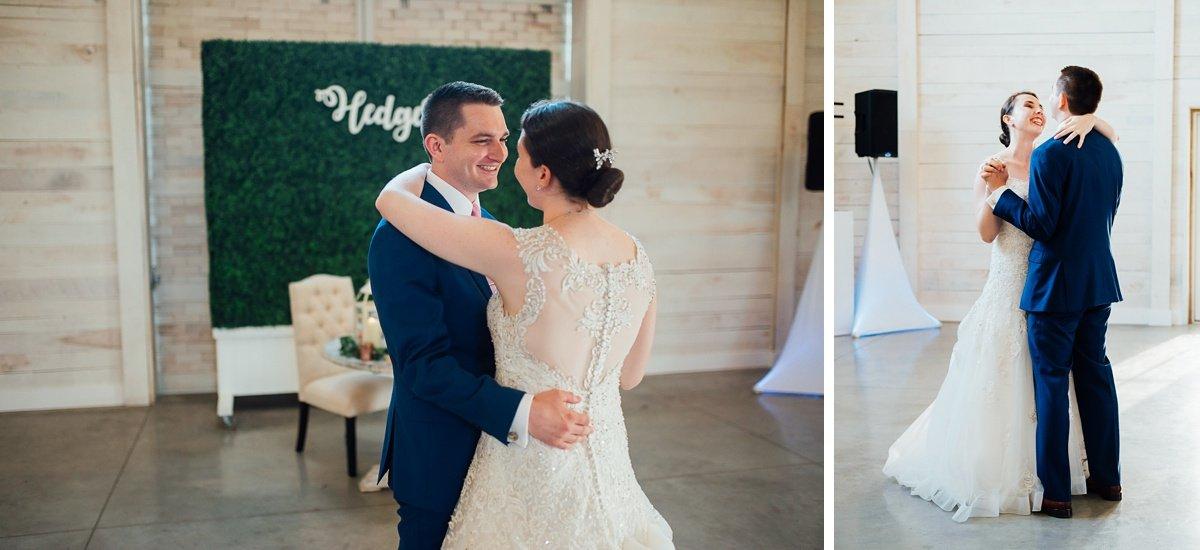 first-dance Laura + Robert | White Dove Barn Wedding