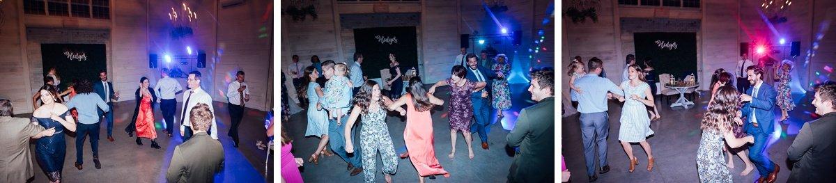 fun-wedding-party Laura + Robert | White Dove Barn Wedding