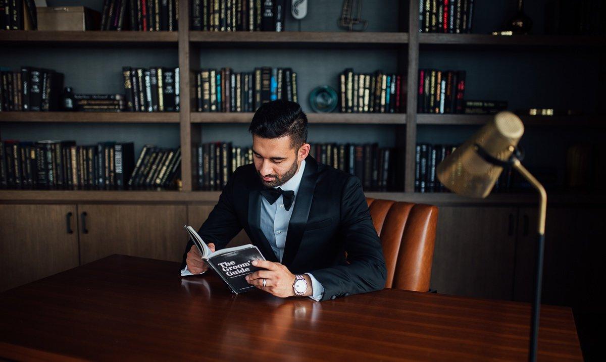 groom-awesome-portraits Osama + Sanah | Centennial Park and JW Marriott Wedding