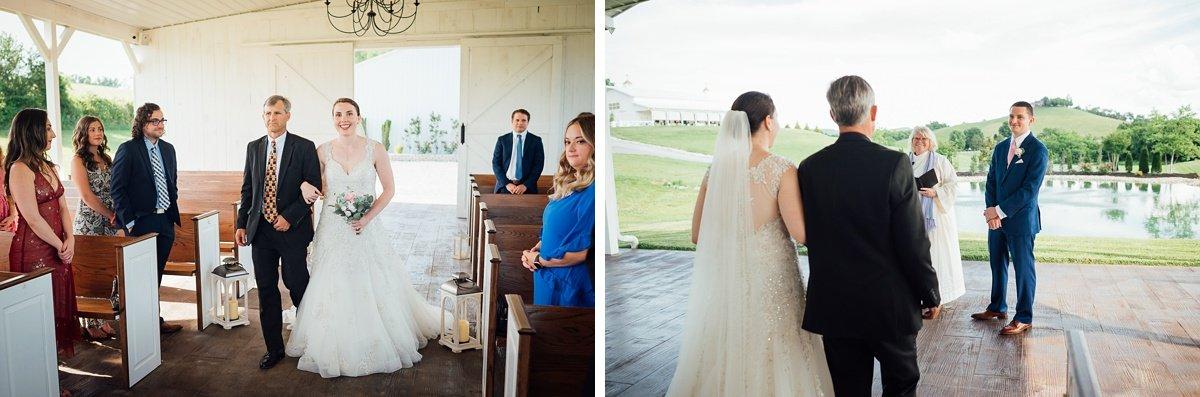 groom-sees-bride Laura + Robert | White Dove Barn Wedding