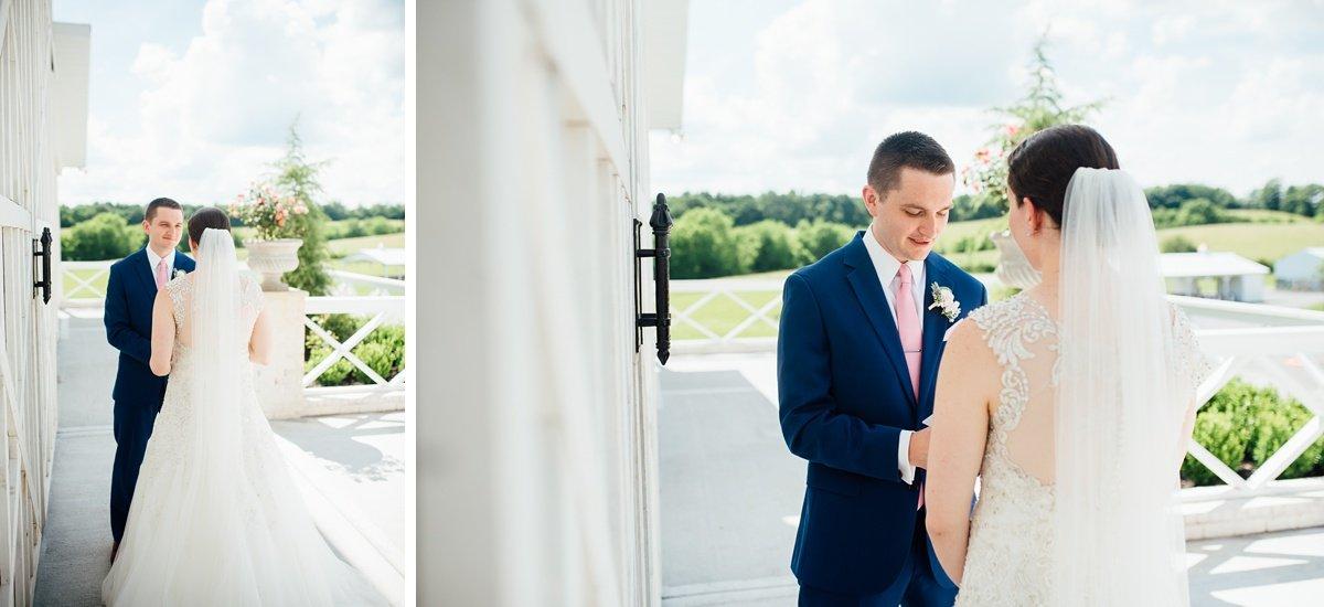 grooms-vows Laura + Robert | White Dove Barn Wedding
