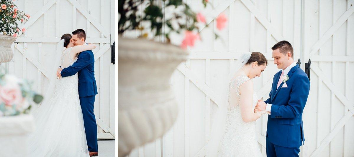 happy-couple Laura + Robert | White Dove Barn Wedding