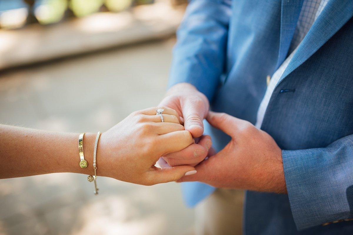holding-hands-engaged Cheekwood Proposal - Truman + Alivia