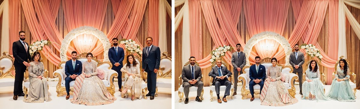 indian-wedding-family-portrait Osama + Sanah   Centennial Park and JW Marriott Wedding