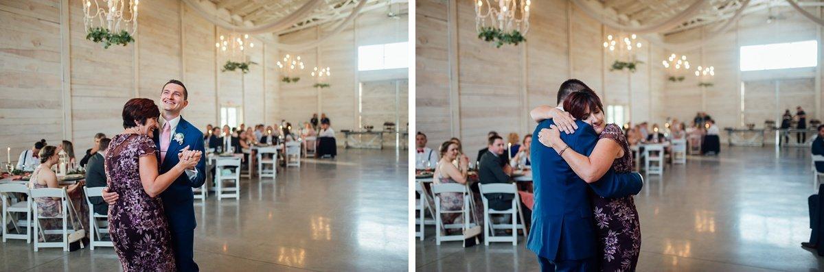 mother-son-dance-emotional Laura + Robert | White Dove Barn Wedding