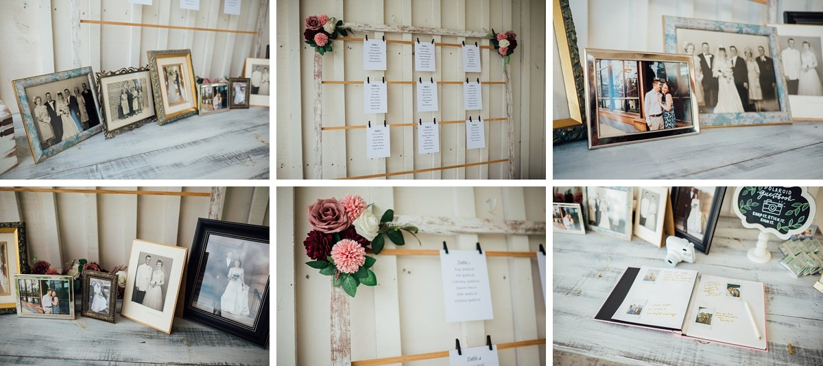 old-wedding-photos-guestbook Laura + Robert | White Dove Barn Wedding