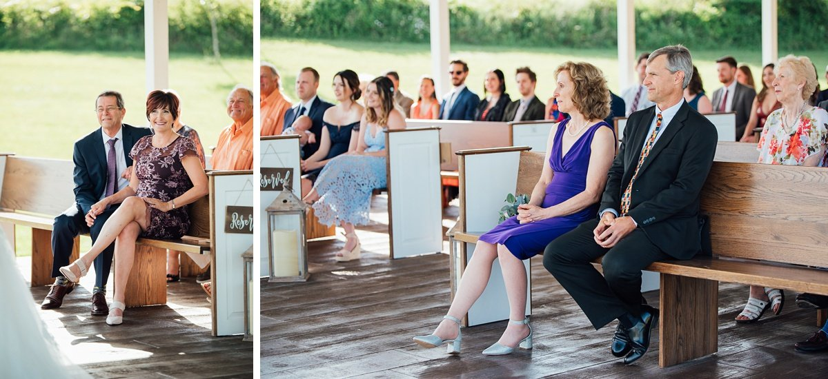 parents-watching-wedding Laura + Robert | White Dove Barn Wedding