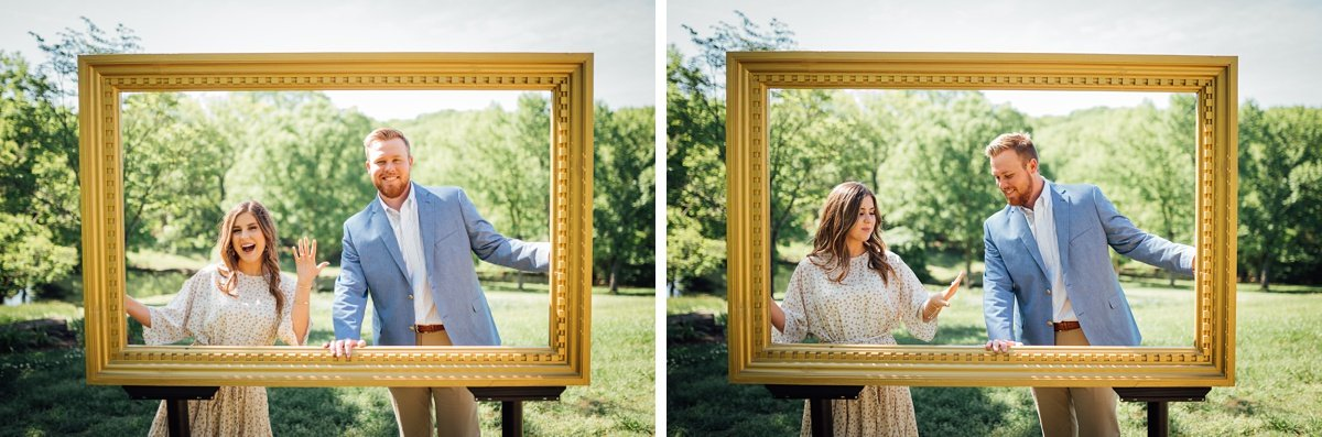 picture-frame-engagement Cheekwood Proposal - Truman + Alivia