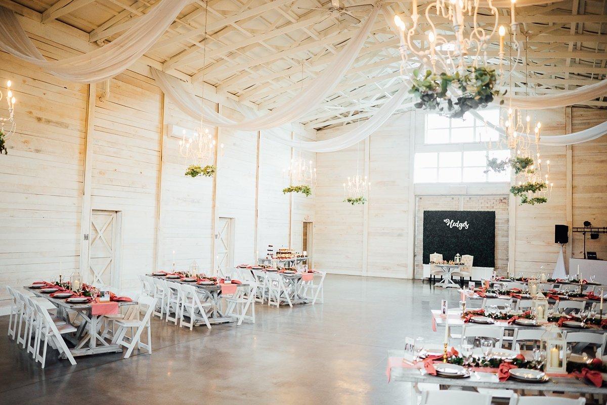 pink-wedding-tables Laura + Robert | White Dove Barn Wedding